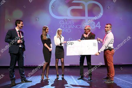 Arnaud Ellul (CEO at CAP 34) , Marine Lorphelin, Alexandra Rosenfeld, Pierre Lemarchal and F.X. (Francois Xavier)