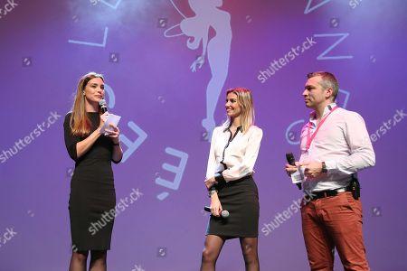 Marine Lorphelin, Alexandra Rosenfeld and F.X (Francois Xavier)