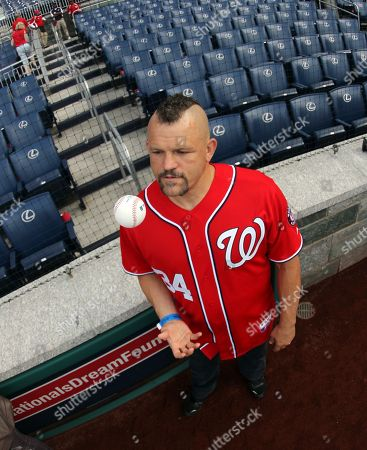 Editorial photo of Chuck Lidell Throws out First Pitch at Nationals Game Ny - 19 May 2012