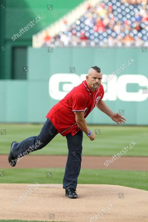 Editorial image of Chuck Lidell Throws out First Pitch at Nationals Game Ny - 19 May 2012