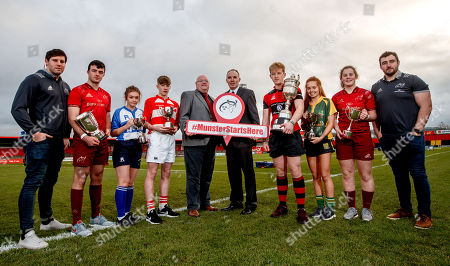 Dave O?Callagan, Munster Rugby, Evan Murphy, Munster U18 Clubs, Ciara Sheehan, Tralee RFC U15 Girls, Matthew Sheehan, Skibbereen RFC U16 Cup, Dave Fitzgibbon, Chairman Munster Youth Committee, John McAllen, Bank of Ireland, Ross Flaherty, Ennis RFC U18 Cup, Muirne Wall, Listowel RFC U18 Girls, Enya Breen, Munster U18 Girls and James Cronin, Munster Rugby