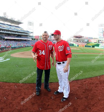 Editorial picture of Chuck Lidell Throws out First Pitch at Nationals Game Ny - 19 May 2012