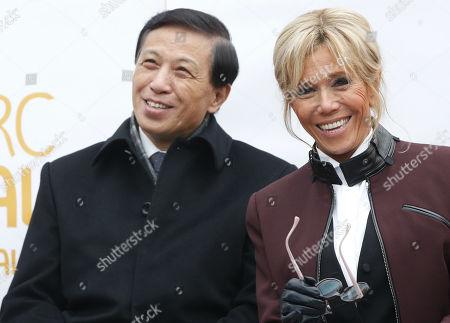 Brigitte Macron and Zhang Yesui