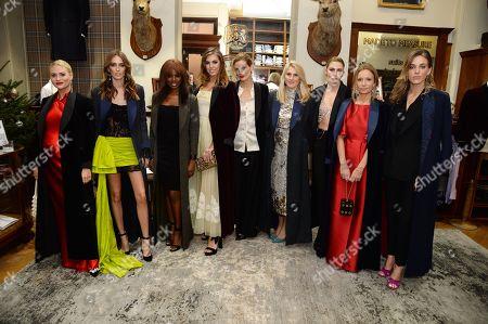 Pandora Skyes, Alice Manners, June Sarpong, Amber Le Bon, Malgosia Bela, Hayley Bloomingdale, Sophie Pera, Martha Ward and Daisy Knatchbull
