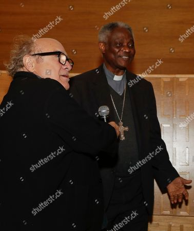 Actor Danny De Vito and Cardinal Peter Kodwo Appiah Turkson talk during the opening ceremony of the Laudato Si Challenge, in Rome, . The Laudato Si' Challenge is an initiative to find, found and accelerate early-stage companies that help to bring solutions to climate change and human migration