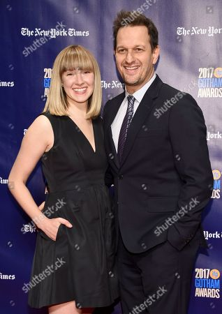 Josh Charles, Sophie Flack. Josh Charles, right, and Sophie Flack arrive at the 27th annual Independent Film Project's Gotham Awards at Cipriani Wall Street, in New York