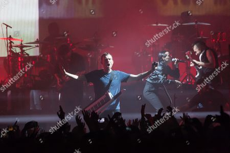 Stock Image of Gorillaz - Damon Albarn, with special guest Jehnny Beth (Camille Berthomier) of Savages
