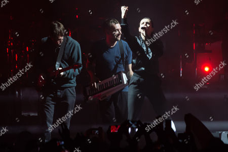 Editorial photo of Gorillaz in concert at the O2 Arena in London, UK - 04 Dec 2017