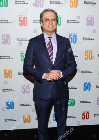Preet Bharara attends The Bloomberg 50, a celebration of icons and innovators who changed global business in 2017, at Gotham Hall, in New York