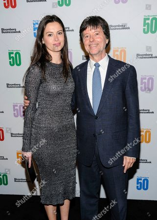 Lilly Burns, left, and Ken Burns attend The Bloomberg 50, a celebration of icons and innovators who changed global business in 2017, at Gotham Hall, in New York