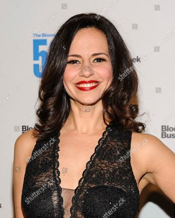 Mandy Gonzalez attends The Bloomberg 50, a celebration of icons and innovators who changed global business in 2017, at Gotham Hall, in New York
