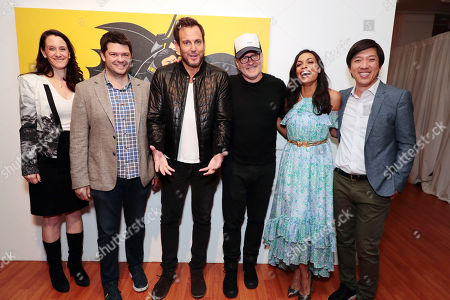 Allison Abbate - Warner Animation Group, Christopher Miller - Producer, Will Arnett, Chris McKay - Director, Rosario Dawson and Dan Lin - Producer