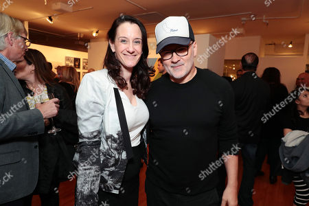 Stock Photo of Allison Abbate - Warner Animation Group and Chris McKay - Director