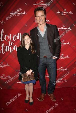 Editorial image of 'Christmas at Holly Lodge' film screening, Los Angeles, USA - 04 Dec 2017