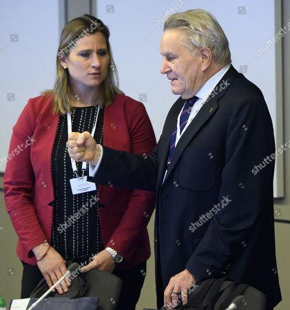Stock Photo of Denis Oswald and Angela Ruggiero
