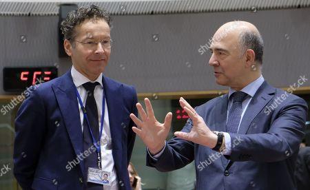 Jeroen Dijsselbloem and Pierre Moscovici