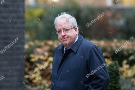 Chancellor of the Duchy of Lancaster Patrick McLoughlin arriving in Downing Street to attend a Cabinet meeting this morning.