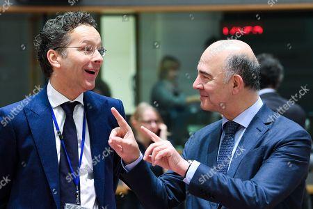 Pierre Moscovici, Jeroen Dijsselbloem /