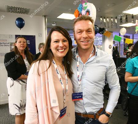 Sir Chris Hoy and Lady Sarra Hoy