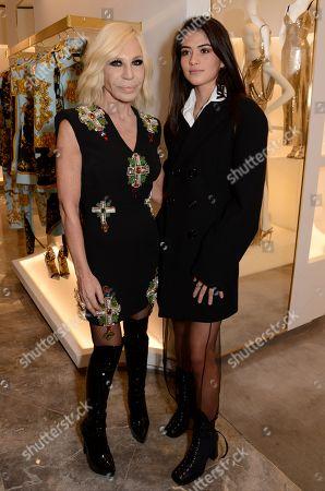 Donatella Versace and Kim Turnbull