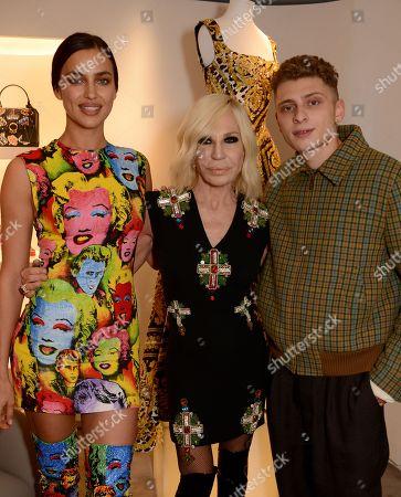 Irina Shayk, Donatella Versace and Blondey McCoy