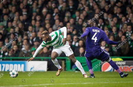 Moussa Dembele of Celtic & Kara Mbodji of RSC Anderlecht