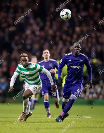 Stock Picture of Moussa Dembele of Celtic & Kara Mbodji of RSC Anderlecht