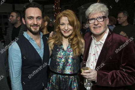George Blagden, Laura Pitt-Pulford (Charity Barnum) and Richard Mawbey (Hair/Wig Design)
