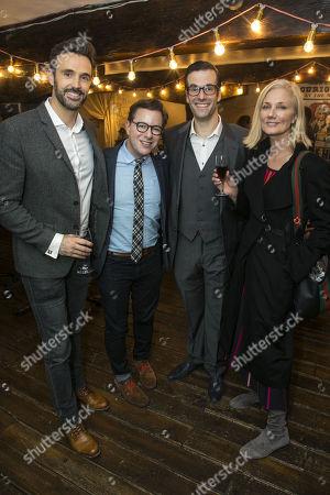 Michael Xavier, Gordon Greenberg (Director), Marcus Brigstocke (PT Barnum) and Joely Richardson
