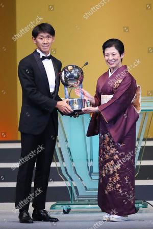 Hiroki Mizumoto (Sanfrecce) and Princess Hisako Takamado