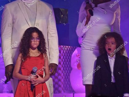 Mariah Carey's children Monroe Cannon and Moroccan Cannon
