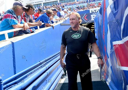 Stock Photo of New York Jets outside linebackers coach Kevin Greene before an NFL football game against the Buffalo Bills, in Orchard Park, N.Y