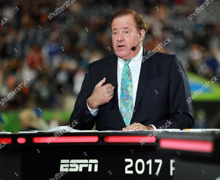 ESPN sports caster Chris Berman works during the NFL Pro Bowl football game, in Orlando, Fla