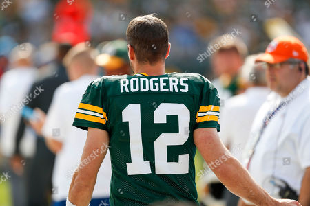 Green Bay Packers' Aaron Rogers (12) during an NFL football game against the Detroit Lions in Green Bay, Wis