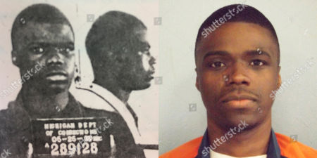 This combination of photos made available by the Michigan Department of Corrections shows a younger Ahmad Rashad Williams and in April 2014. Williams' mother, a crack addict, died when he was 10. His grandmother, who raised him in Grand Rapids, Mich., died soon after. By the time Williams shot and killed Derek Pimpleton in a dispute over marijuana, he was smoking it every day and regularly skipping school. Both boys were 15