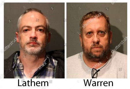These booking photos provided by the Chicago Police Department show Wyndham Lathem, left, and Andrew Warren on . Lathem, a Northwestern University professor, and Warren, an Oxford University financial officer, have been charged with first-degree murder in the death of Trenton James Cornell-Duranleau, a Michigan native who had been working in Chicago. Authorities say Cornell-Duranleau suffered more than 40 stab wounds to his upper body during the July attack in Lathem's high-rise Chicago condo. Lathem and Warren surrendered peacefully to police in California on Aug. 4 after an eight-day manhunt