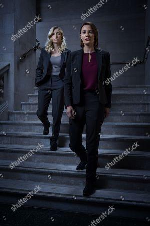 (Ep 1) - Sarah Parish as Elizabeth Bancroft and Faye Marsay as Katherine Stevens.