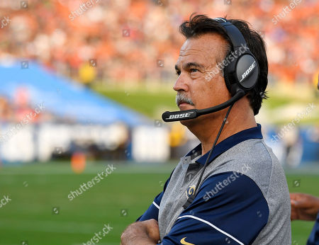 Los Angeles Rams head coach Jeff Fisher, stands on the sideline during the second half of an NFL football game, in Los Angeles. The Rams fired their coach on Monday. Fassel will serve as interim coach