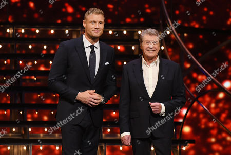 Stock Image of Andrew 'Freddie' Flintoff and Michael Crawford.