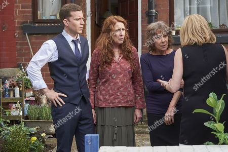 (Ep 1) - Philip Cumbus as Andrew Thackery, Phyllis Logan as Linda Hutchinson, Zoe Wanamaker as Gail Stanley and Miranda Richardson as Sue Thackery