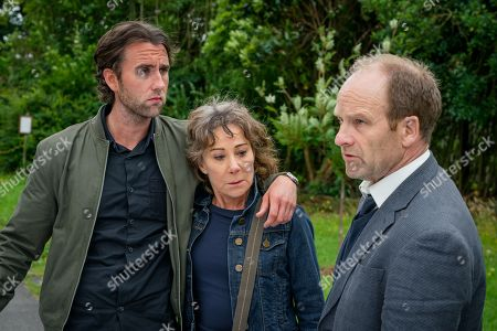 (Ep 1) - Matthew Lewis as Tom Dreyton, Zoe Wanamaker as Gail Stanley and Adrian Rawlins as Dave Stanley