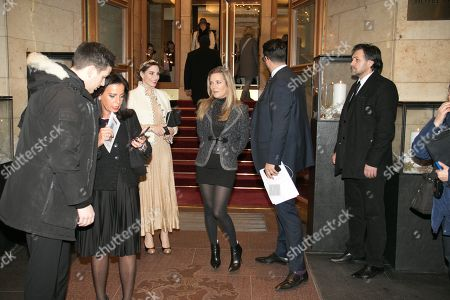 Editorial image of Celebs leaving Hotel Four Seasons for the Chanel Fashion Show Metiers D'Art, Hamburg, Germany - 06 Dec 2017