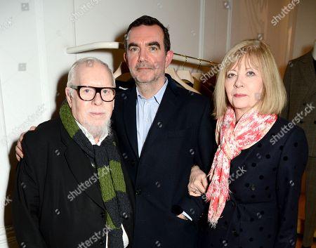 Peter Blake, Simon Aboud and Chrissie Blake