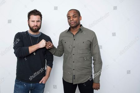 "James Roday, Dule Hill. Actors James Roday, left, and Dule Hill pose for a portrait in New York to promote their TV film, ""Psych: The Movie,"" debuting Thursday on USA"