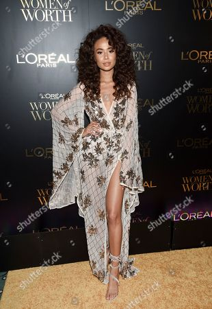 Symphani Soto attends the L'Oreal Women of Worth Awards at the Pierre Hotel, in New York