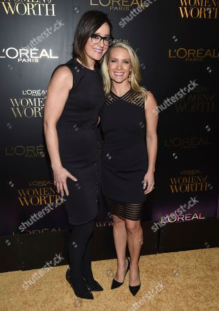 Dana Perino, Kennedy, Lisa Kennedy Montgomery. Kennedy, left, and Dana Perino attend the L'Oreal Women of Worth Awards at the Pierre Hotel, in New York