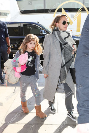 Stock Photo of Nicole Richie and her daughter Harlow Madden
