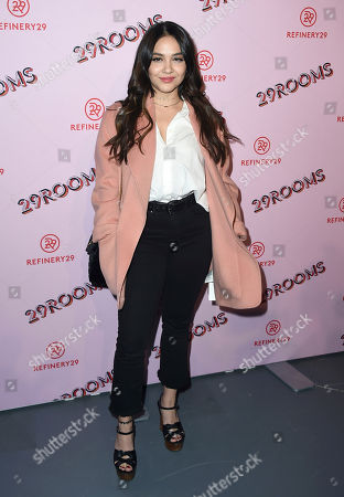 Stella Hudgens arrives at the West Coast debut of 29rooms at ROW DTLA, in Los Angeles