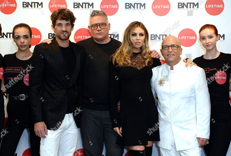 Max Rogers,  Giles Deacon,  Abbey Clancy,  Nicky Johnston