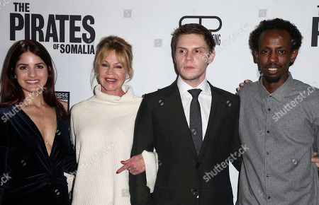 Stock Photo of Kiana Madani, Melanie Griffith, Evan Peters, Barkhad Abdi